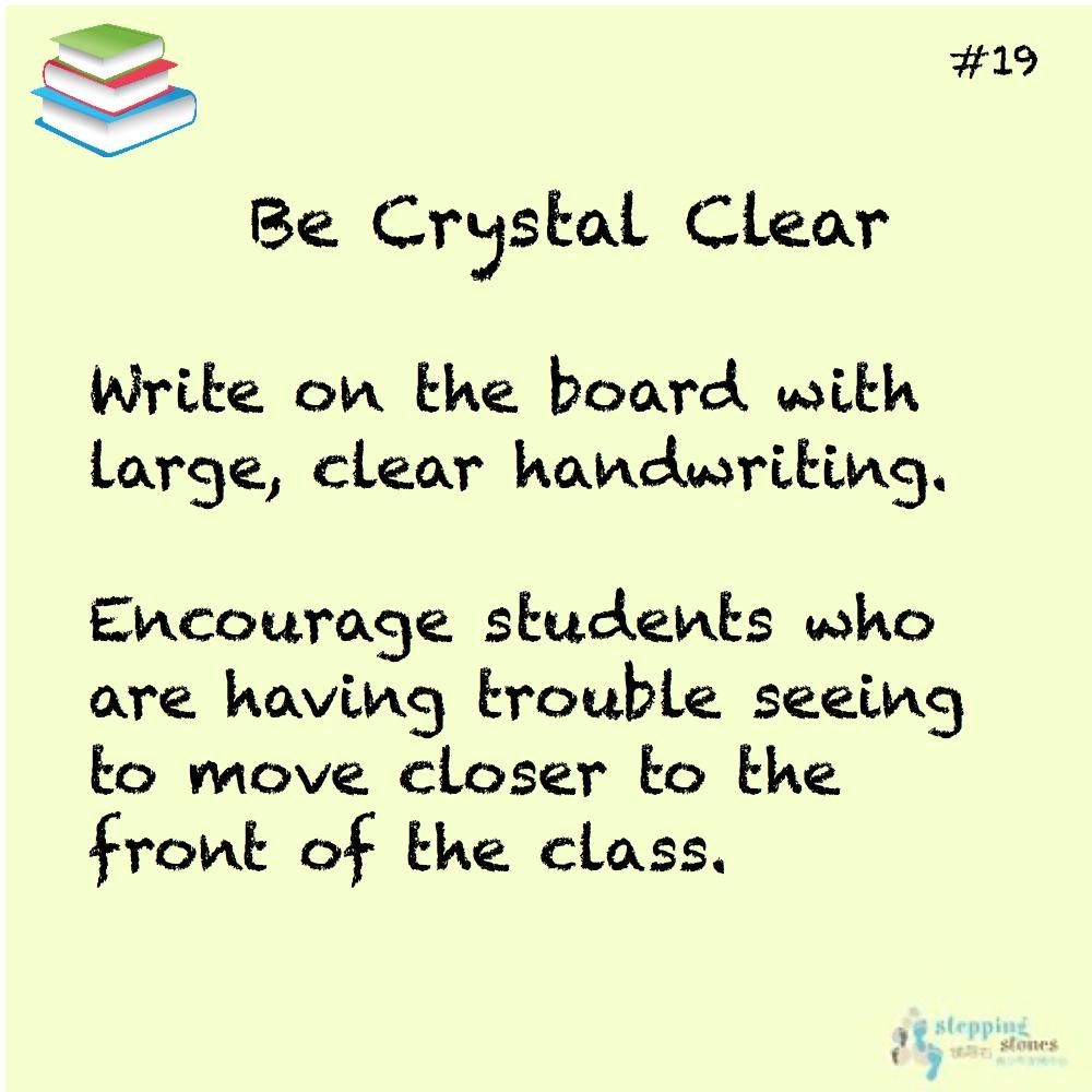 Teaching Tip 19