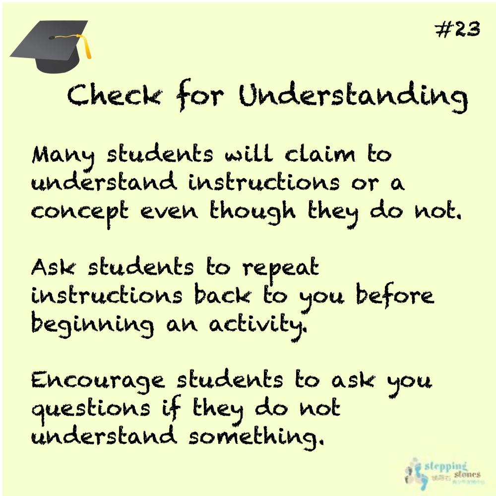 Teaching Tip 23