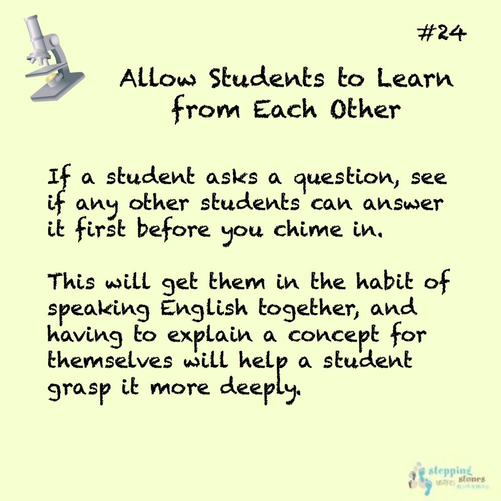 Teaching Tip 24
