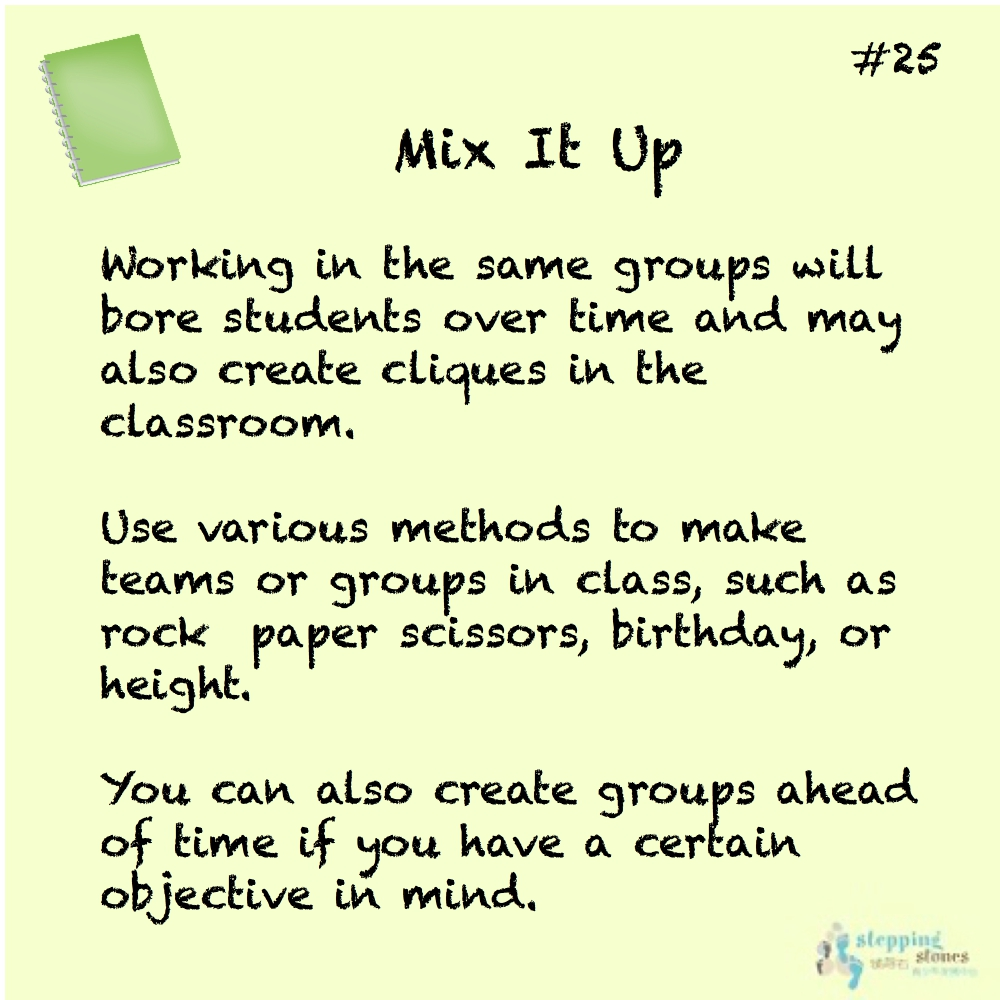 Teaching Tip 25