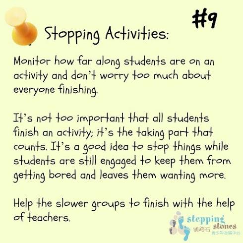 teaching tip #9